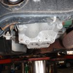 Rear Diff peaking out from behind the rear cross member beam